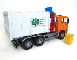 MAN Side Load Garbage Truck By Bruder - FUNdamentally Toys