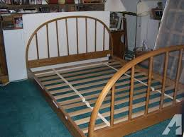 vermont tubbs queen size bed ash wood signed by craftsman
