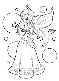Fairy From Lilly Butterfly Coloring Book