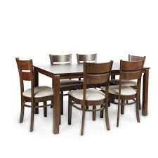 HomeTown Beldon Six Seater Dining Table Set Wenge