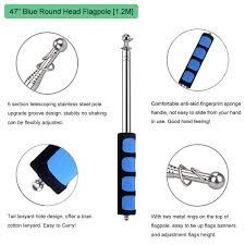 Flagpole Christmas Tree Uk by 47 U0026 55 Inch Guide Flagpole Ceebon Telescoping Stainless Steel