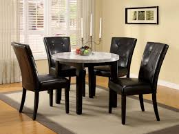 Furniture Of America Dining Table Round 40 With Marble Top ...