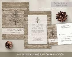 Unique Vintage Winter Wedding Invitations