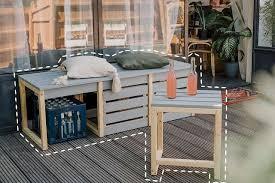 balkonbank mit stauraum selber bauen diy idea