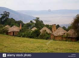 100 Crater Lodge Ngorongoro Late Afternoon Tanzania Stock Photo