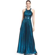 calvin klein metallic sequin halter gown in blue lyst