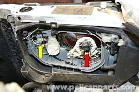 mercedes w124 headlight assembly and bulb replacement 1986