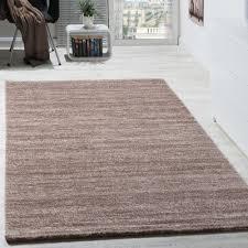 details zu teppich kurzflor modern gemütlich preiswert mit melierung braun creme beige