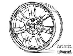 Car Parts Wheel Truck Coloring Pages