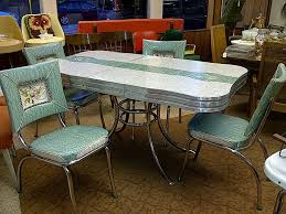 Retro Style Chairs And Table By Dinette Sets For Dining Room Furniture Ideas