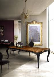 ambassador dining room cool brown round unique wood