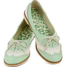 Vintage Inspired Mint And Ivory Wedding Flats