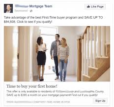 Facebook Ad For Mortgage Broker Example