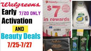 Early Activation Deals | Beauty Event Deals 7/25-7/27 | Walgreens Deals |  Mostly Digital