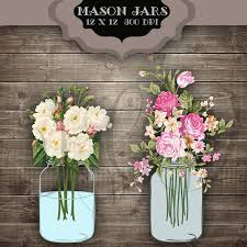 Wedding Clip Art Mason Jars Digital Clipart