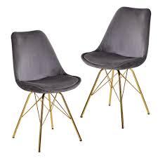 wohnling esszimmerstuhl 2er set samt grau küchenstuhl mit goldenen beinen schalenstuhl skandinavisches design polsterstuhl mit stoffbezug stuhl