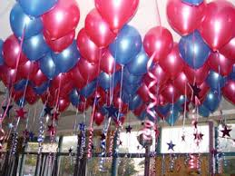 Home For Birthday Parties 1 Ceiling Balloons With Stars And Frills
