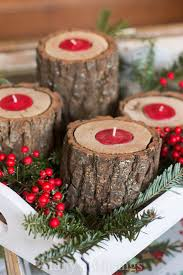 Create These DIY Wood Candle Holders As A Rustic Chic Centerpiece Or Homemade Christmas Gift