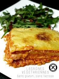cuisine sans lait lasagnes végétariennes sans gluten sans lactose cookismo