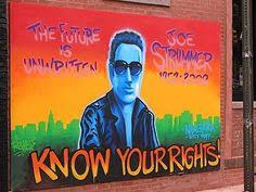 Joe Strummer Mural Portobello Road by Joe Strummer Lino Print And Original Water Color The Clash Punk