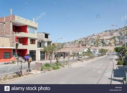 100 Houses For Sale In Lima Peru Street In District Of Villa El Salvador Stock