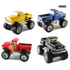 100 Chevy Toy Trucks Amazoncom Set Of 4 5 Stepside 4x4 Pick Up Monster