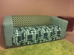 ikea klippan sofa cover 2 color green pattern excellent