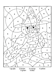 Coloring Pages Hard Color By Number Fun Time Printable Numbers Of Really