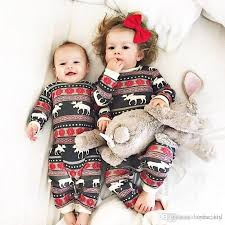 Baby Boy Girl Christmas Clothes Winter Jumpsuit Cute Romper Cotton Kid Red Pajamas Snow Flower Reindeer Clothing 3 18M Factory Xmas