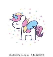 Drawing Cute Unicorn Icon Vector Illustration Design