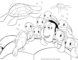 Finding Nemo Coloring Book Download Pdf Crush Telling Stories Page Characters Full Size
