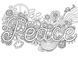 Free Printable Peace Adult Coloring Page Download It In PDF Format At