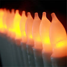 Halloween Flameless Taper Candles by 2015 Yellow Flicker Flameless Taper Candles Battery Operated