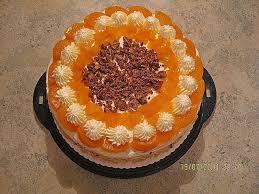 schokocrossies torte mit pfirsichen