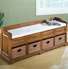 bench the wooden seating indoor home decor throughout storage seat