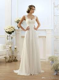 cheap vintage modest wedding gowns capped sleeves empire waist