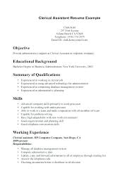 Sample Resume Clerical Template Top 8 Assistant Samples 1 Bunch Ideas Of