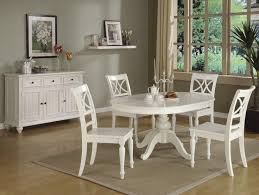 Round Kitchen Table Decorating Ideas by Furniture Trendy The Wallpapered Wall Round White Table And A