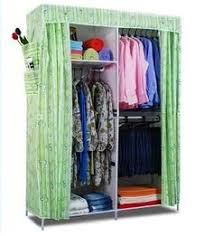 Generic New Double Portable Wardrobe Bedroom Clothes Hanging