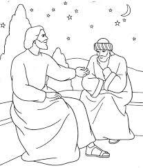 Nicodemus Bible Coloring Sheet 7