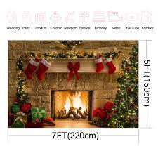Amazoncom Allenjoy 7x5ft Christmas Fireplace Photo Backdrop Teddy