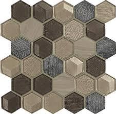 MohawkR Grand Terrace Hexagon 11 X Glass And Stone Mosaic Tile At MenardsR