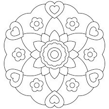 Perfect Coloring Easy Mandalas To Color For Printable Mandala Pages