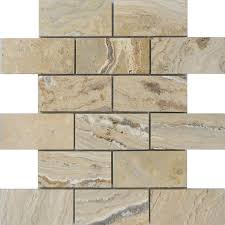 Scabos Travertine Natural Stone Wall Tile by Shop Allen Roth A R Beige Brick Mosaic Travertine Floor And Wall
