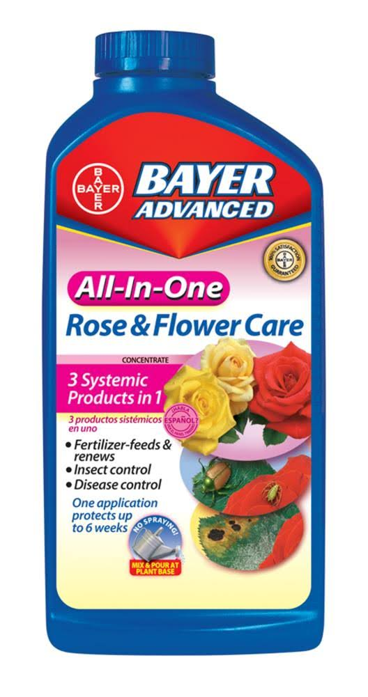 Bayer Advanced 701260 All-In-One Rose and Flower Care Concentrate - 32 oz