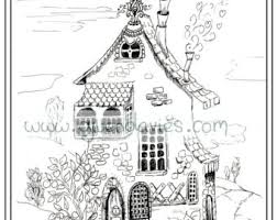 Adult Colouring In PDF Download Pixie House Fairy Calming Mindfulness Henna Zen Mandalas Flower Anti Stress