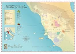 Tuscany Wine Region Map