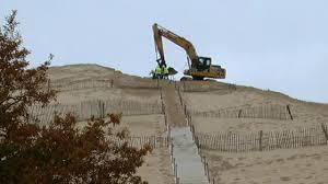 dune du pilat l escalier qui mène au sommet démonté pour l hiver