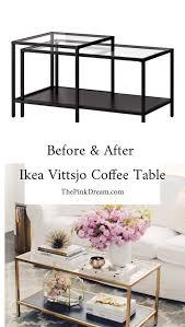 ikea vittsjo coffee table hack step by step ikea vittsjo