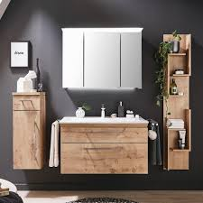 puris cool line badmöbel 90 cm mit spiegelschrank inkl acrylleuchte